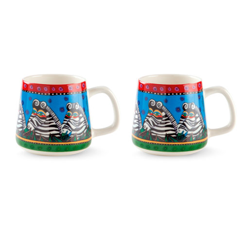 service 2 mug Laurel Burch Jungle bleus PLB21J/2AZ-Egan