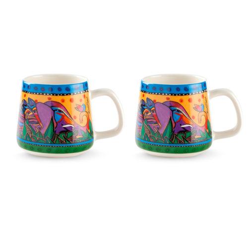 Set 2 Mug Laurel Burch Jungle Gialle