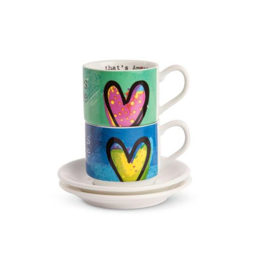 Set 2 Tazze Caffè That'S Amore Impilabili