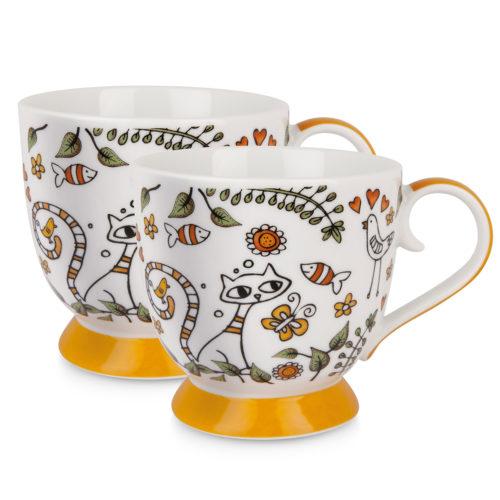 Set 2 Tazze Tea For Two Arancio